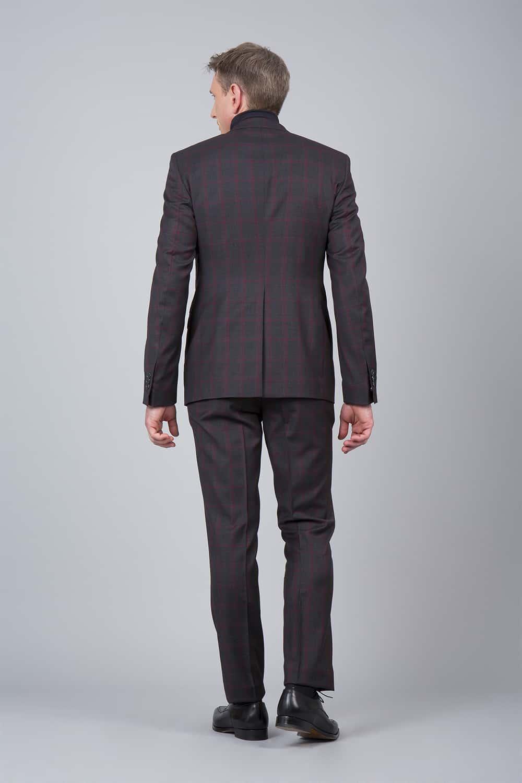 homme dos costume carreaux 3p tailleur Paris
