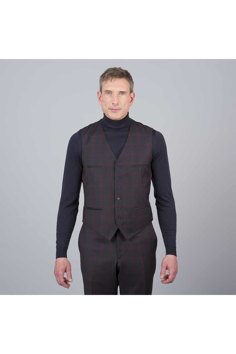 homme veston carreaux 3p tailleur Paris