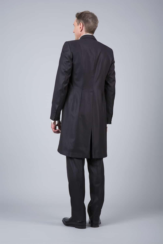 cérémonie jaquette marron tailleur paris vue de dos