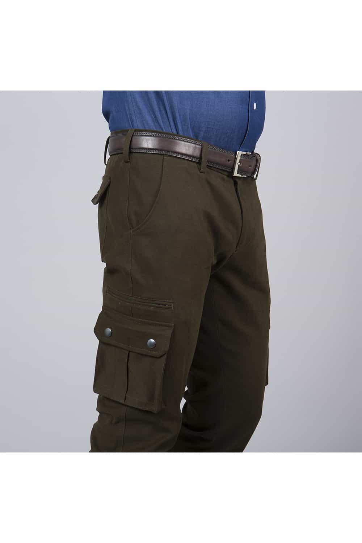 pantalon saharienne beige coté