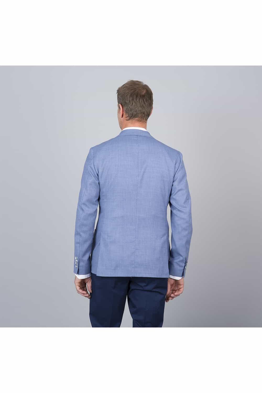 dos veste bleu tailleur
